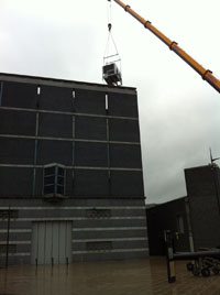 Air Conditioning Crane Lift Leeds