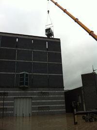 Air Conditioning Crane Lift Leeds